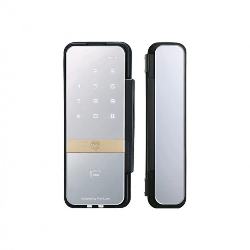 Fechadura digital porta de correr vidro